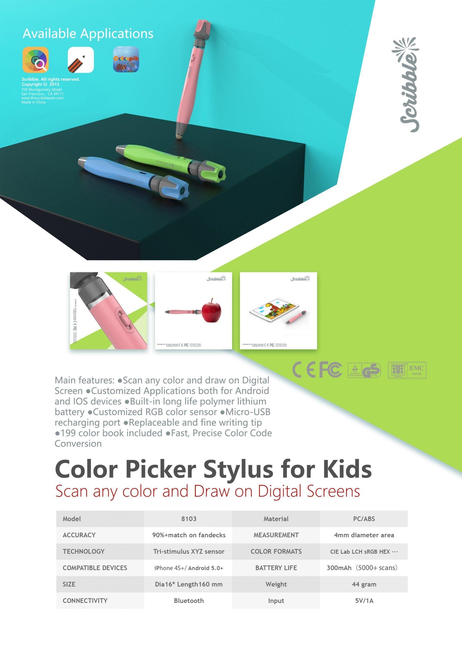 Color Picker Stylus for Kids